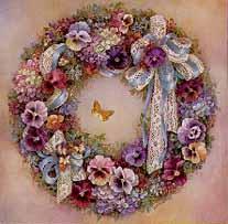 Wreath of Pansies