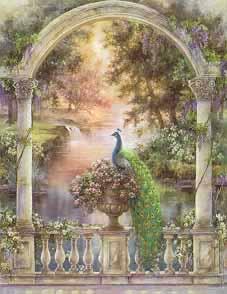Garden of Paradise - Majestic Peacock