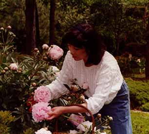 Lena with Peonies