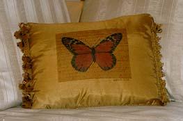 Orange Monarch Butterfly Pillow