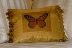 Orange Monarch Butterfly Pillow