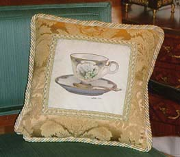 Happiness Teacup Pillow