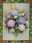 Hydrangea Bouquet Art Tile**