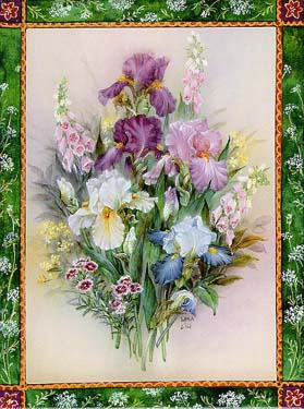 Iris Bouquet Art Tile