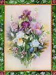 Iris Bouquet Art Tile**